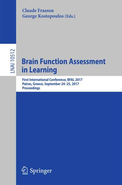 Cover of 'Brain Function Assessment in Learning'