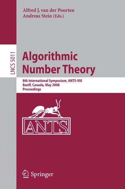 Cover of 'Algorithmic Number Theory'