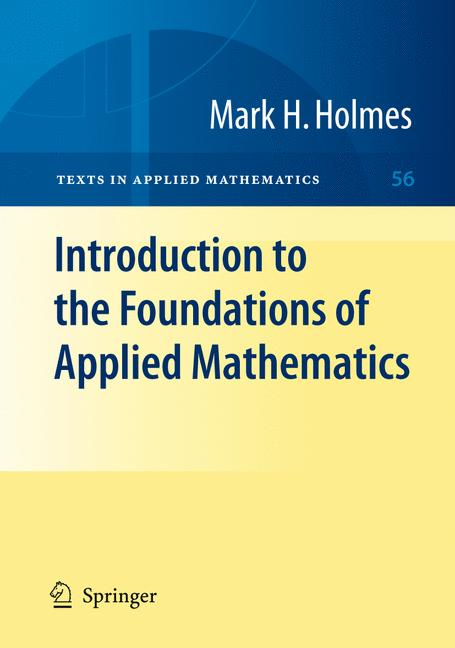 Cover of 'Introduction to the foundations of applied mathematics'