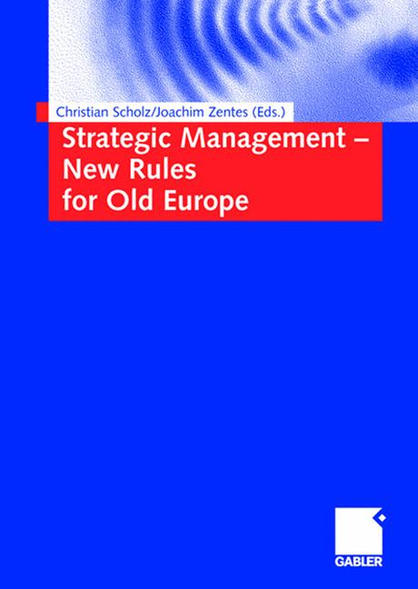 Cover of 'Strategic Management — New Rules for Old Europe'