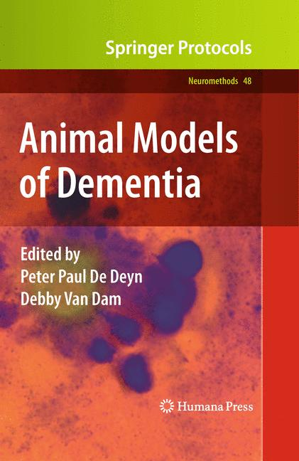 Cover of 'Animal Models of Dementia'
