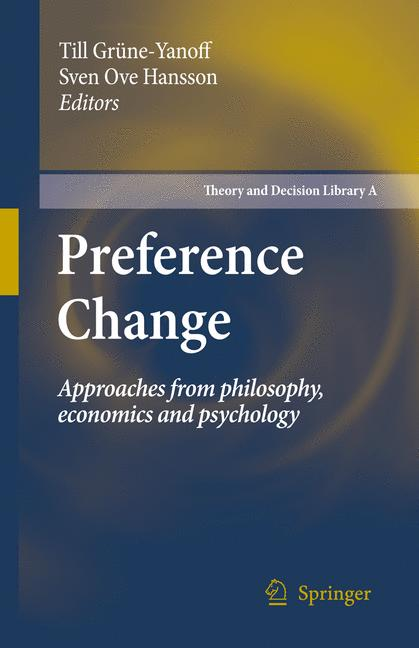 Cover of 'Preference Change'
