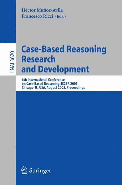 Cover of 'Case-Based Reasoning Research and Development'