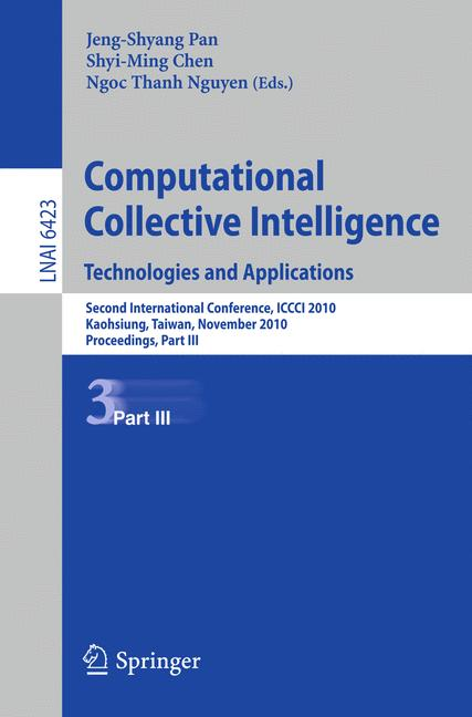 Cover of 'Computational Collective Intelligence. Technologies and Applications'