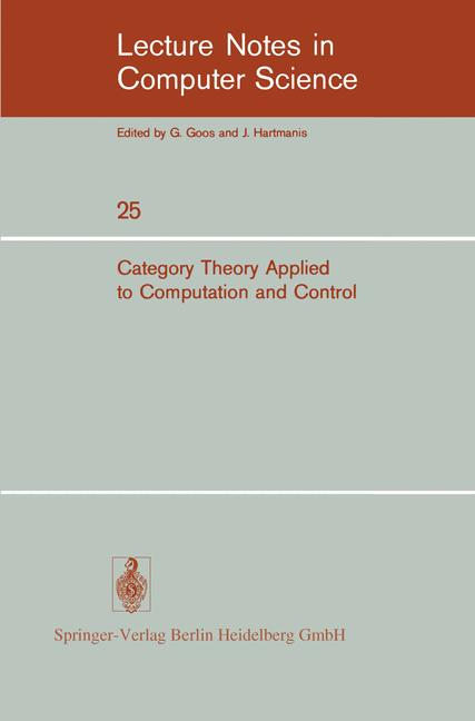 Cover of 'Category Theory Applied to Computation and Control'