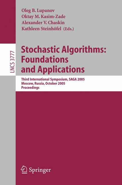 Cover of 'Stochastic Algorithms: Foundations and Applications'