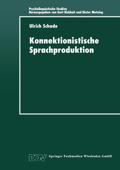 Cover of 'Konnektionistische Sprachproduktion'