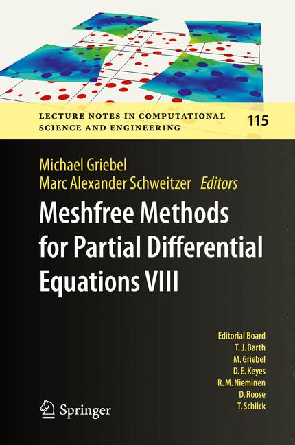 Cover of 'Meshfree Methods for Partial Differential Equations VIII'