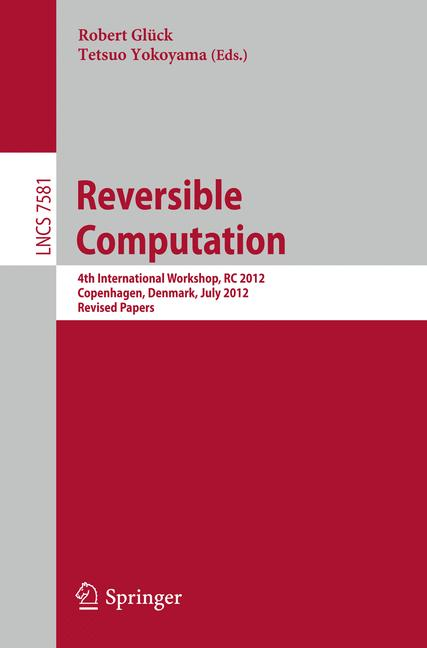 Cover of 'Reversible Computation'