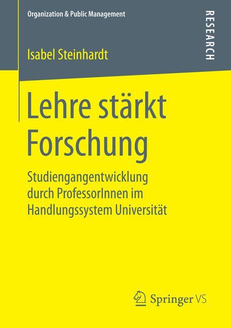 Cover of 'Lehre stärkt Forschung'
