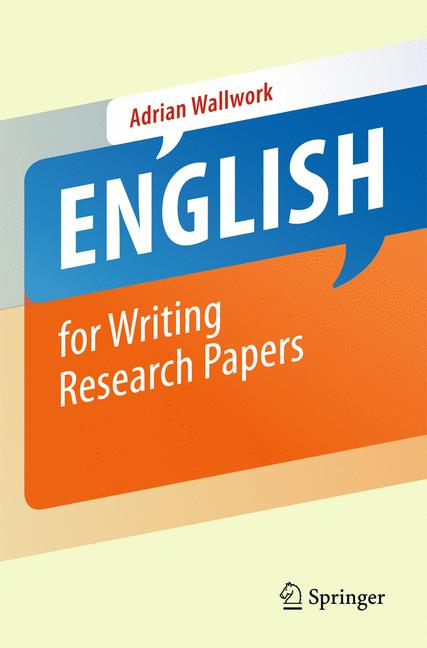 Cover of 'English for Writing Research Papers'