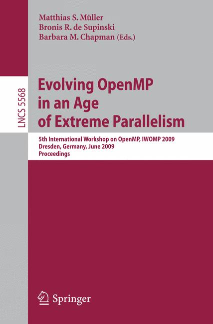 Cover of 'Evolving OpenMP in an Age of Extreme Parallelism'