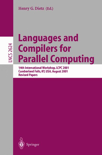 Cover of 'Languages and Compilers for Parallel Computing'