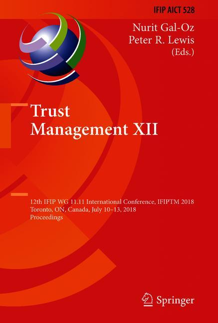 Cover of 'Trust Management XII'
