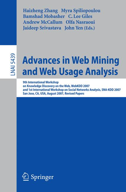 Cover of 'Advances in Web Mining and Web Usage Analysis'