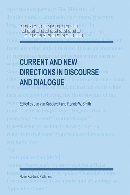 Cover of 'Current and New Directions in Discourse and Dialogue'