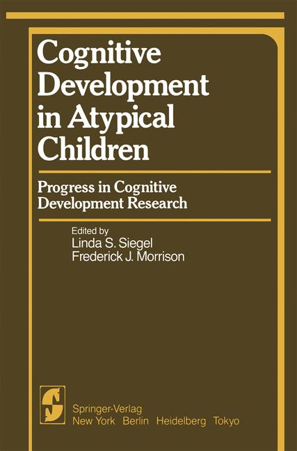 Cover of 'Cognitive Development in Atypical Children'
