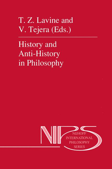 Cover of 'History and Anti-History in Philosophy'
