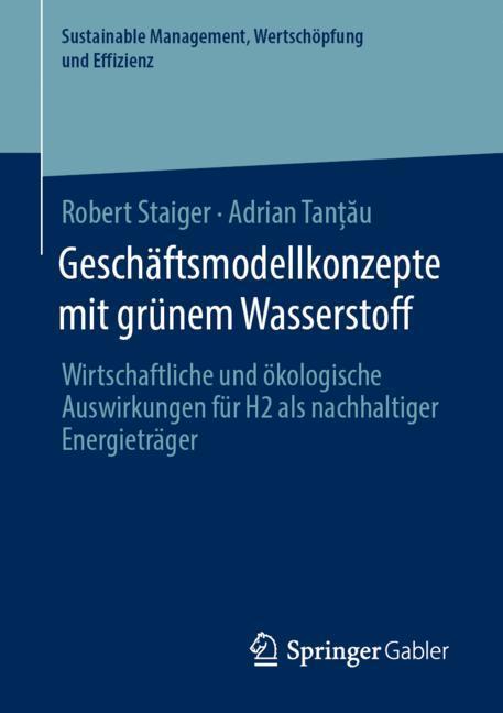 Cover of 'Geschäftsmodellkonzepte mit grünem Wasserstoff'