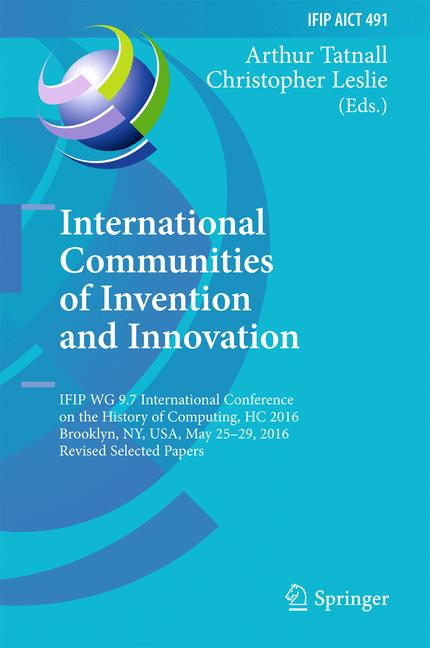 Cover of 'International Communities of Invention and Innovation'
