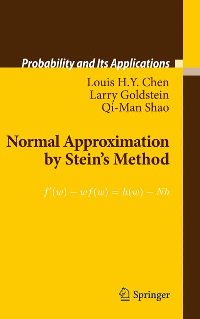 Cover of 'Normal Approximation by Stein's Method'
