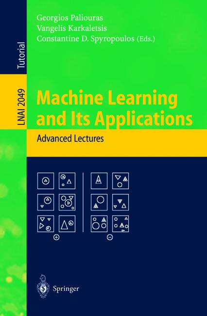 Cover of 'Machine Learning and Its Applications'