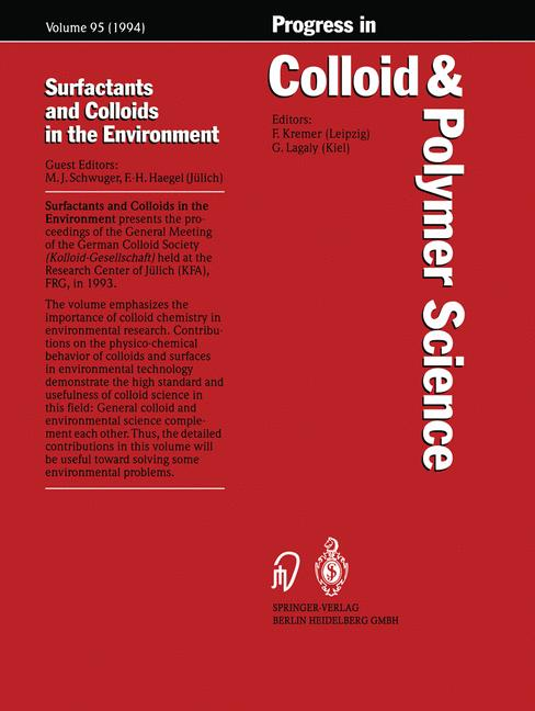 Cover of 'Surfactants and Colloids in the Environment'