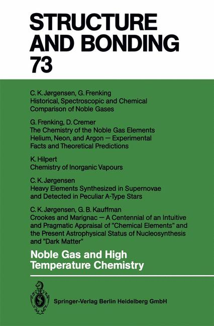 Cover of 'Noble Gas and High Temperature Chemistry'