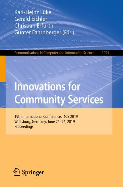 Cover of 'Innovations for Community Services'