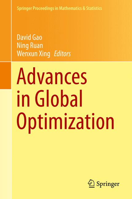 Cover of 'Advances in Global Optimization'