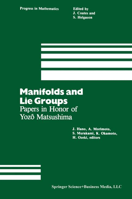 Cover of 'Manifolds and Lie Groups'
