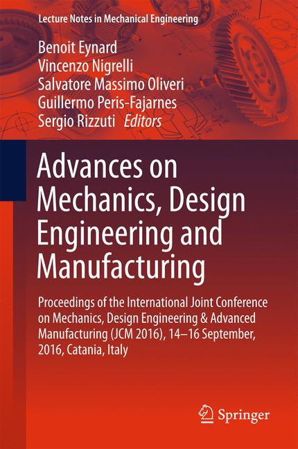 Cover of 'Advances on Mechanics, Design Engineering and Manufacturing'