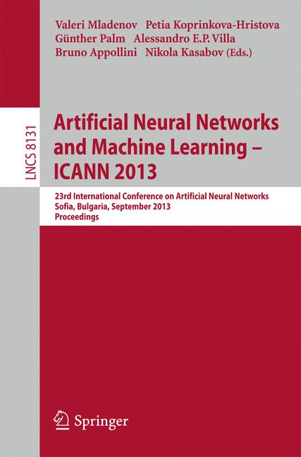 Cover of 'Artificial Neural Networks and Machine Learning – ICANN 2013'