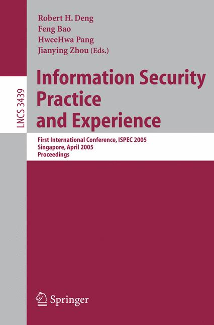 Cover of 'Information Security Practice and Experience'