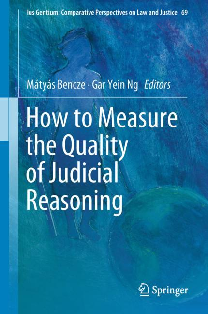 Cover of 'How to Measure the Quality of Judicial Reasoning'
