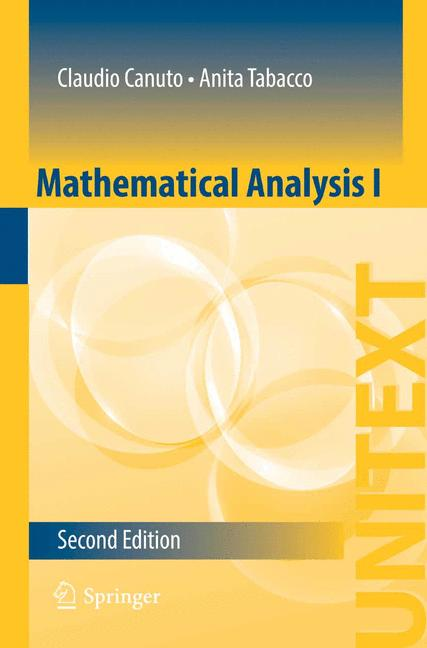 Cover of 'Mathematical Analysis I'