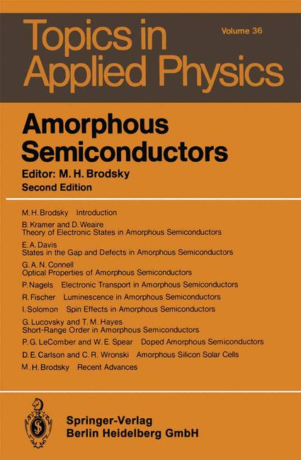 Cover of 'Amorphous Semiconductors'