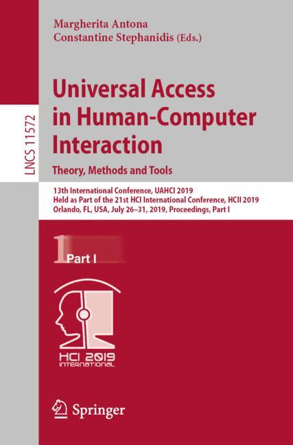 Cover of 'Universal Access in Human-Computer Interaction. Theory, Methods and Tools'