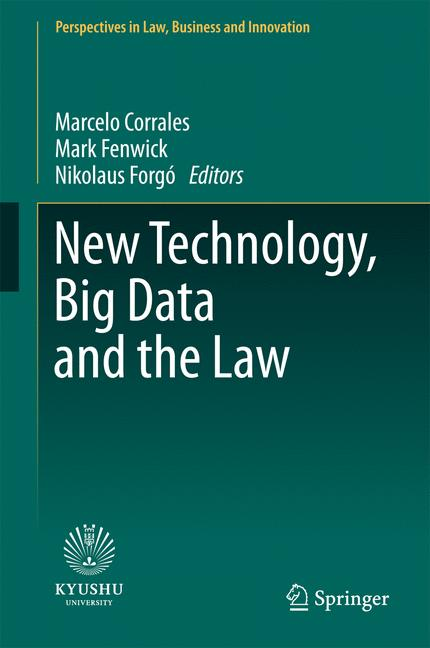 Cover of 'New Technology, Big Data and the Law'
