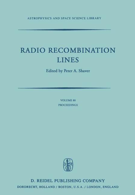 Cover of 'Radio Recombination Lines'