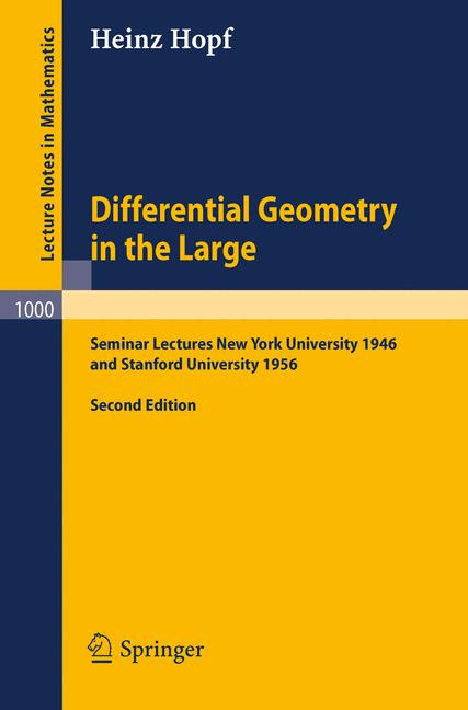Cover of 'Differential Geometry in the Large'