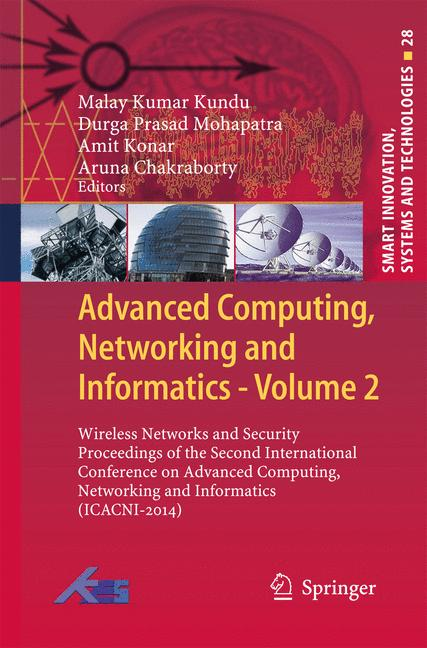 Cover of 'Advanced Computing, Networking and Informatics- Volume 2'