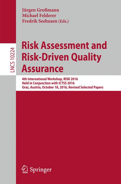 Cover of 'Risk Assessment and Risk-Driven Quality Assurance'
