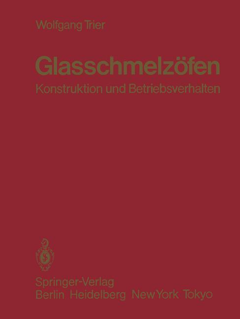 Cover of 'Glasschmelzöfen'