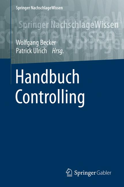 Cover of 'Handbuch Controlling'