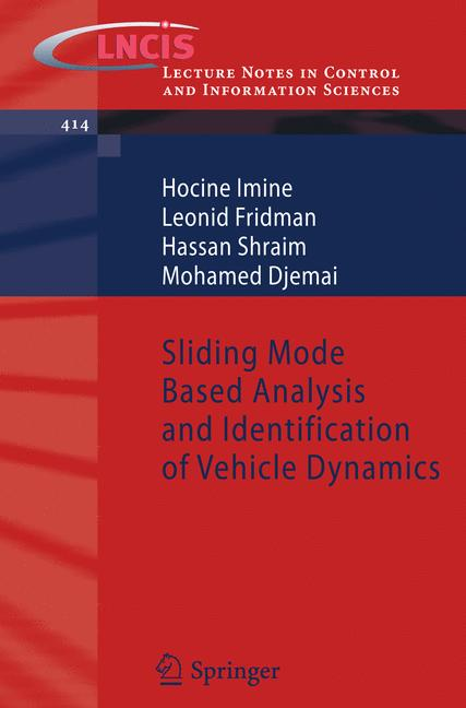 Cover of 'Sliding Mode Based Analysis and Identification of Vehicle Dynamics'