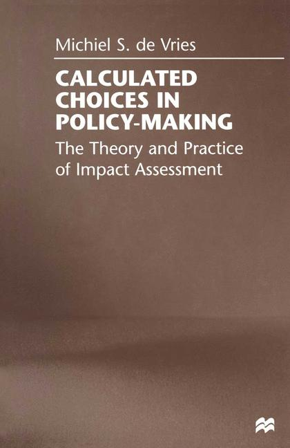 Cover of 'Calculated Choices in Policy-Making'