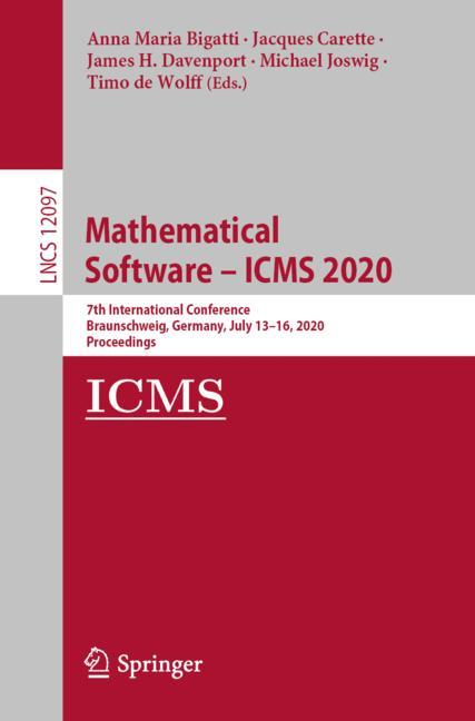 Cover of 'Mathematical Software – ICMS 2020'