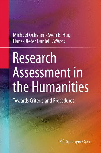 Cover of 'Research Assessment in the Humanities'