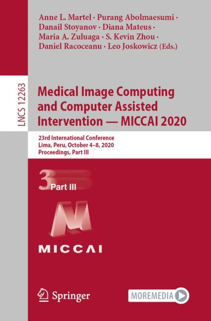 Cover of 'Medical Image Computing and Computer Assisted Intervention – MICCAI 2020'
